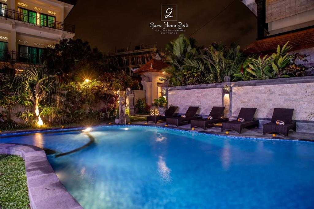 The swimming pool at or close to Gora House Bali