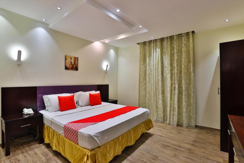 Cama ou camas em um quarto em Lamssat El saada