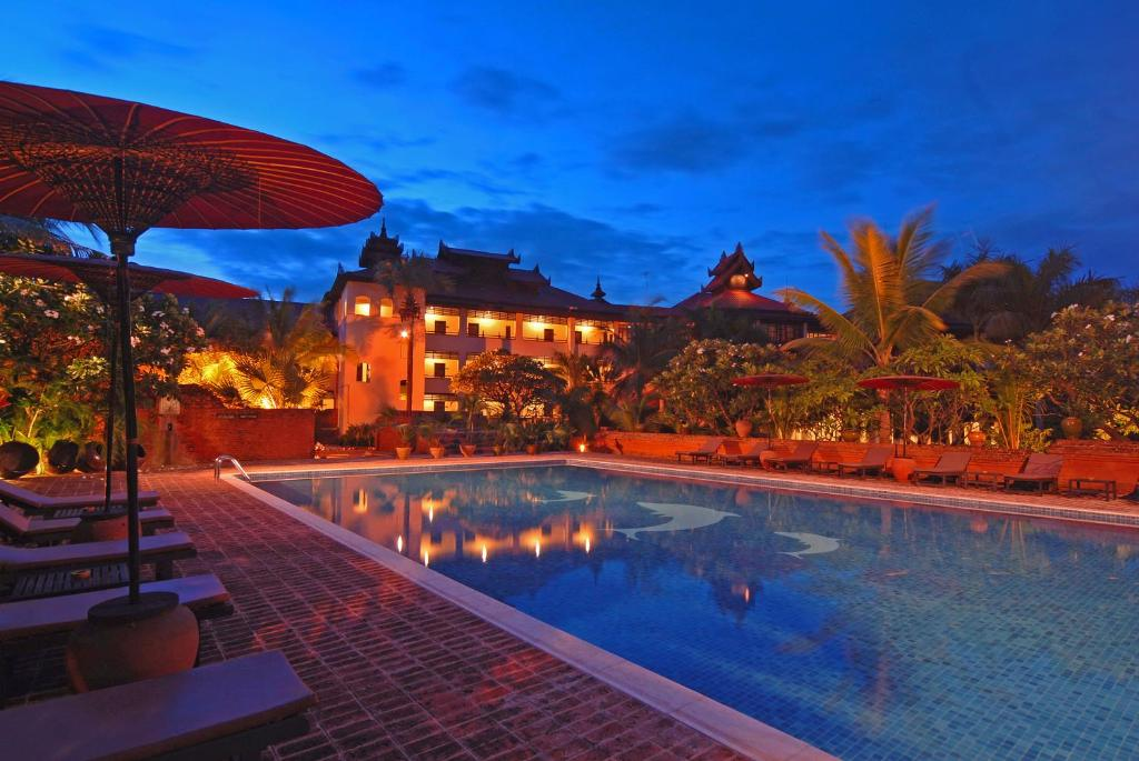 The swimming pool at or near Amazing Bagan Resort