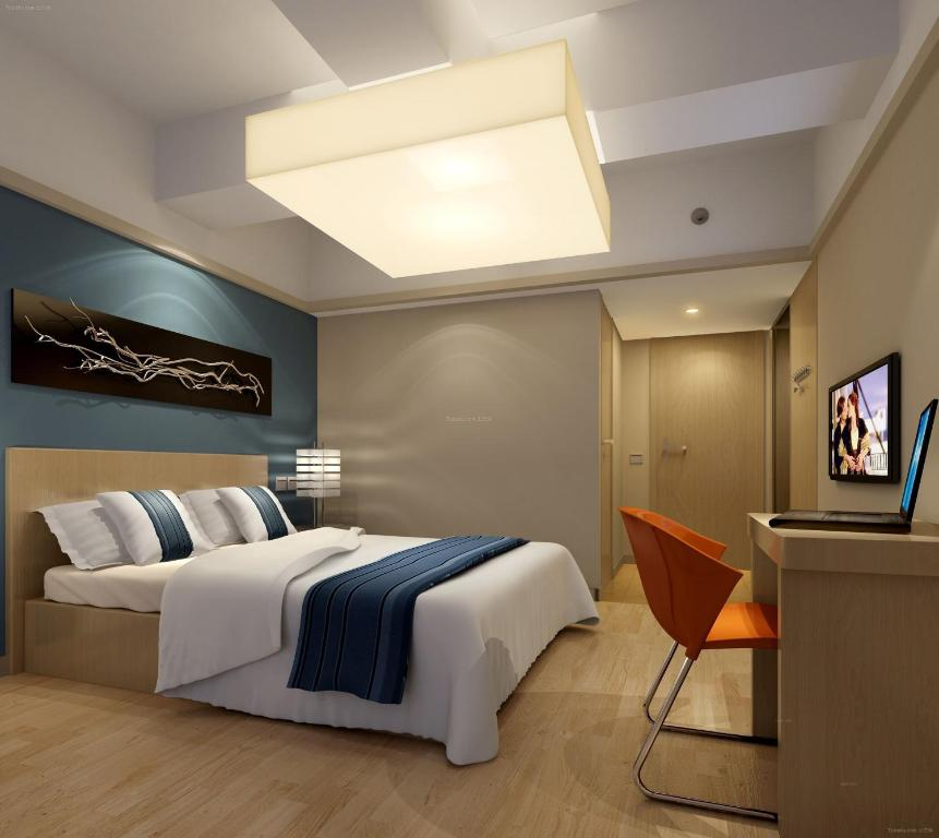 A room at the Nanjing Lafei Hotel Lukou Airport Branch.