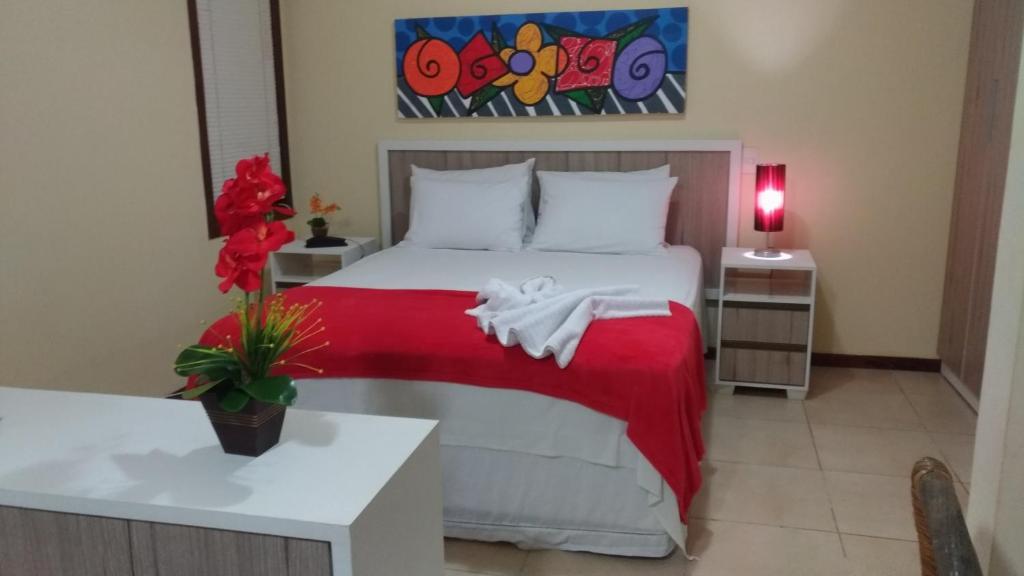 Cama ou camas em um quarto em Solar Pipa Praia Flats
