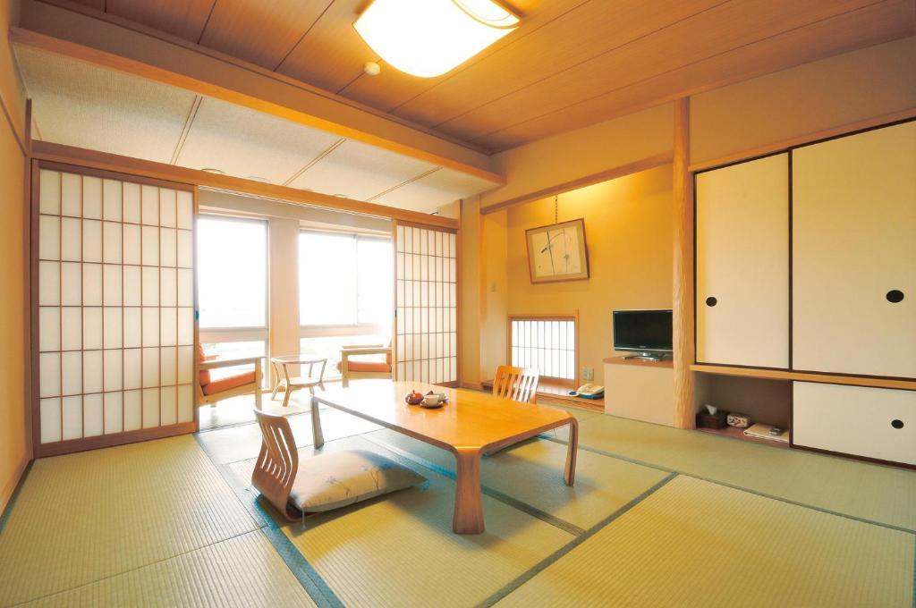A seating area at Miyahama Grand Hotel