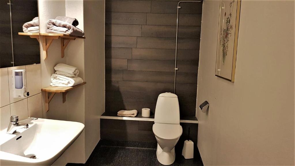 Ett badrum på Hotell Rådhuset