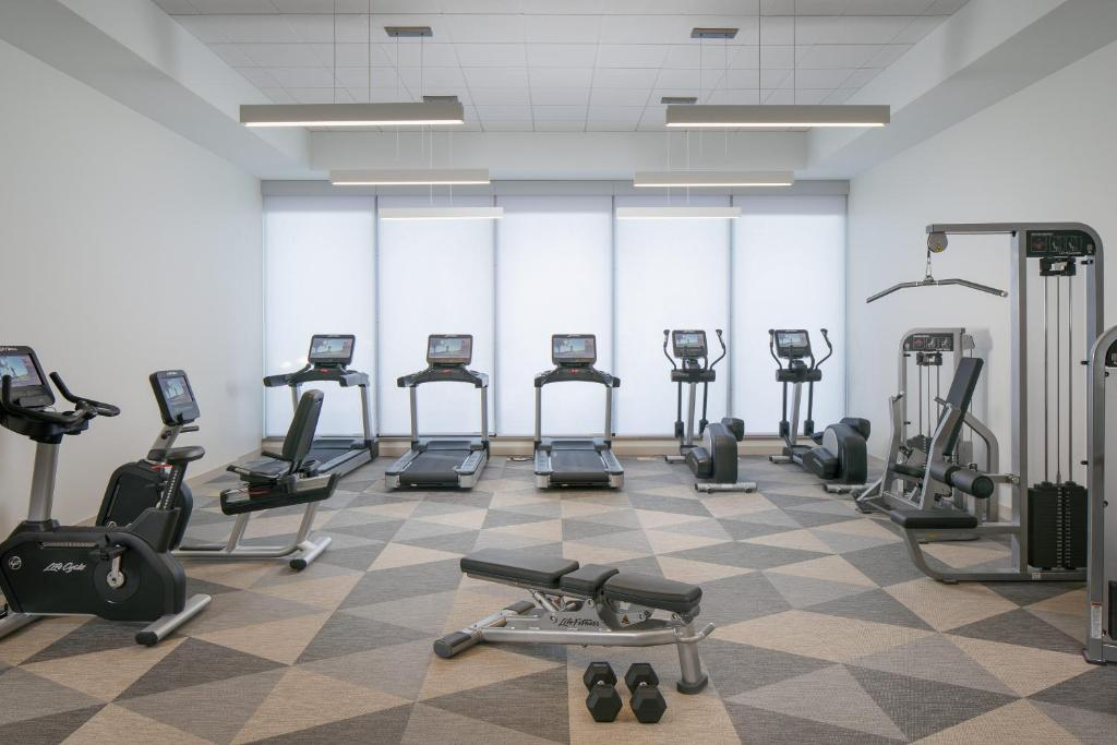 The fitness center and/or fitness facilities at Element Denver Downtown East