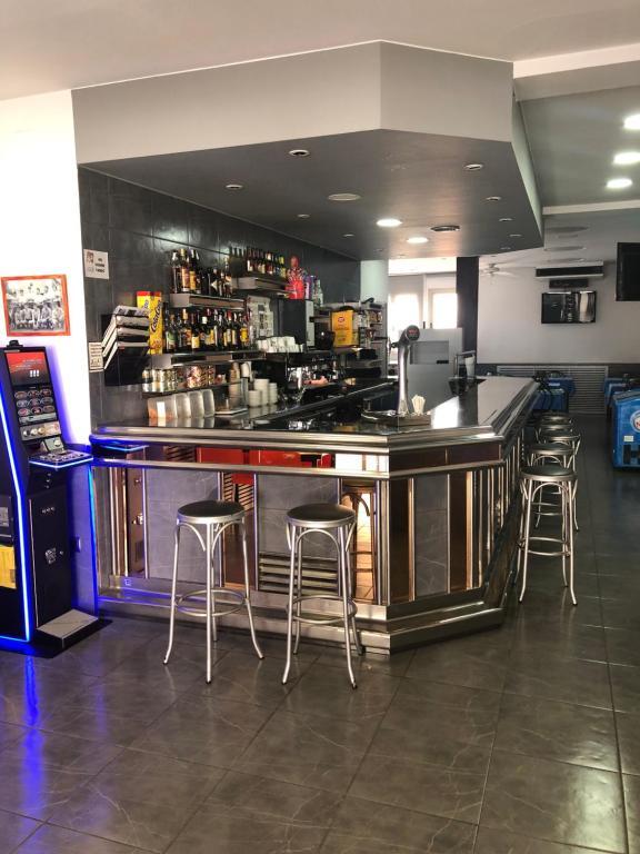 The lounge or bar area at hostal trevol