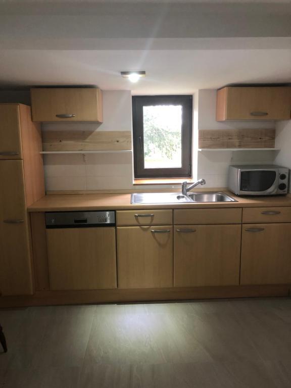 Küche/Küchenzeile in der Unterkunft Marschenhof am See Xanten