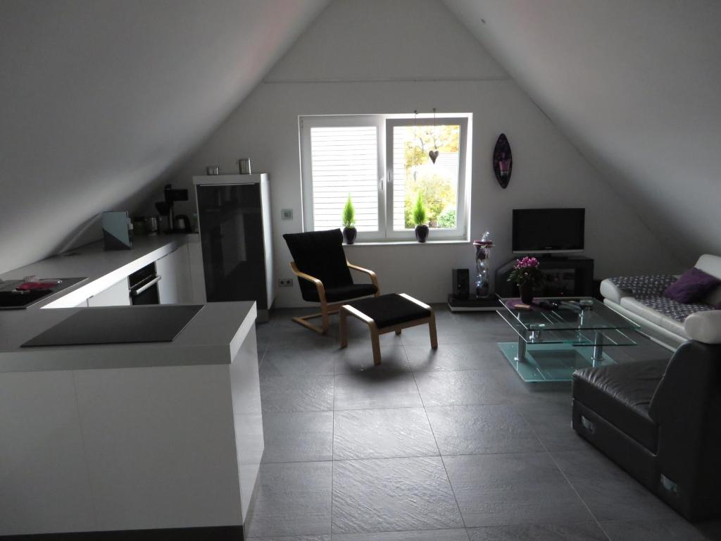 A seating area at Apartment in toller Lage am Rande des Ruhrgebietes