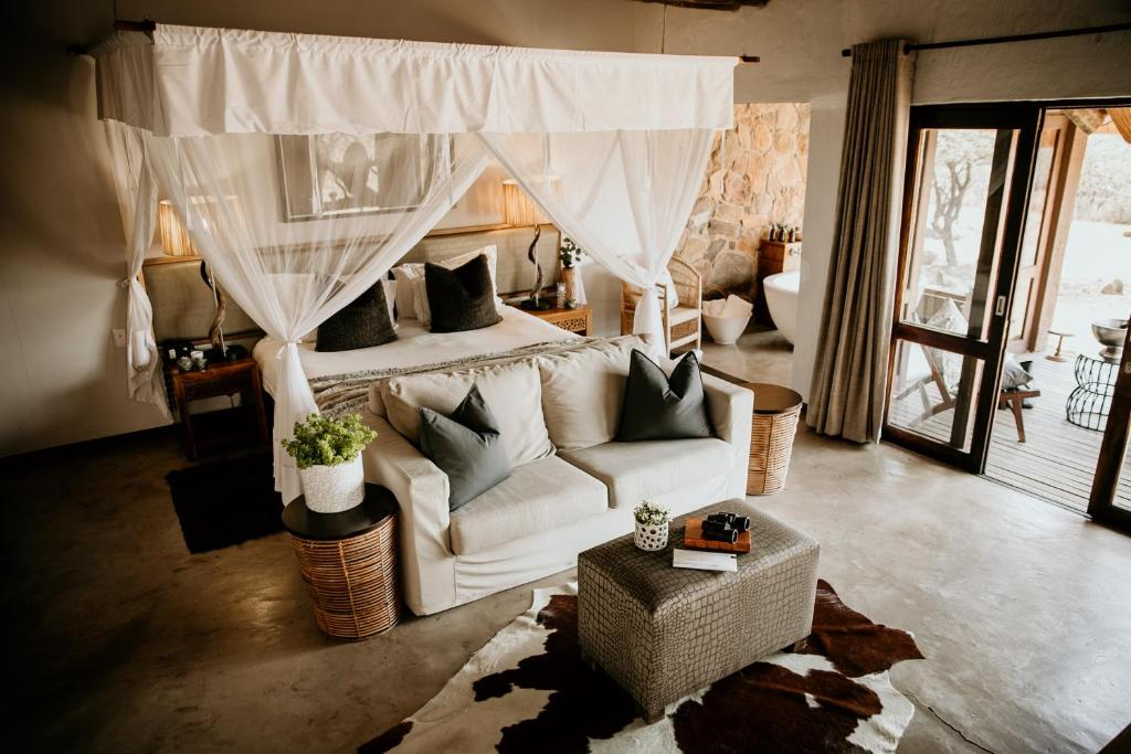 A seating area at Nambiti Hills Private Game Experience