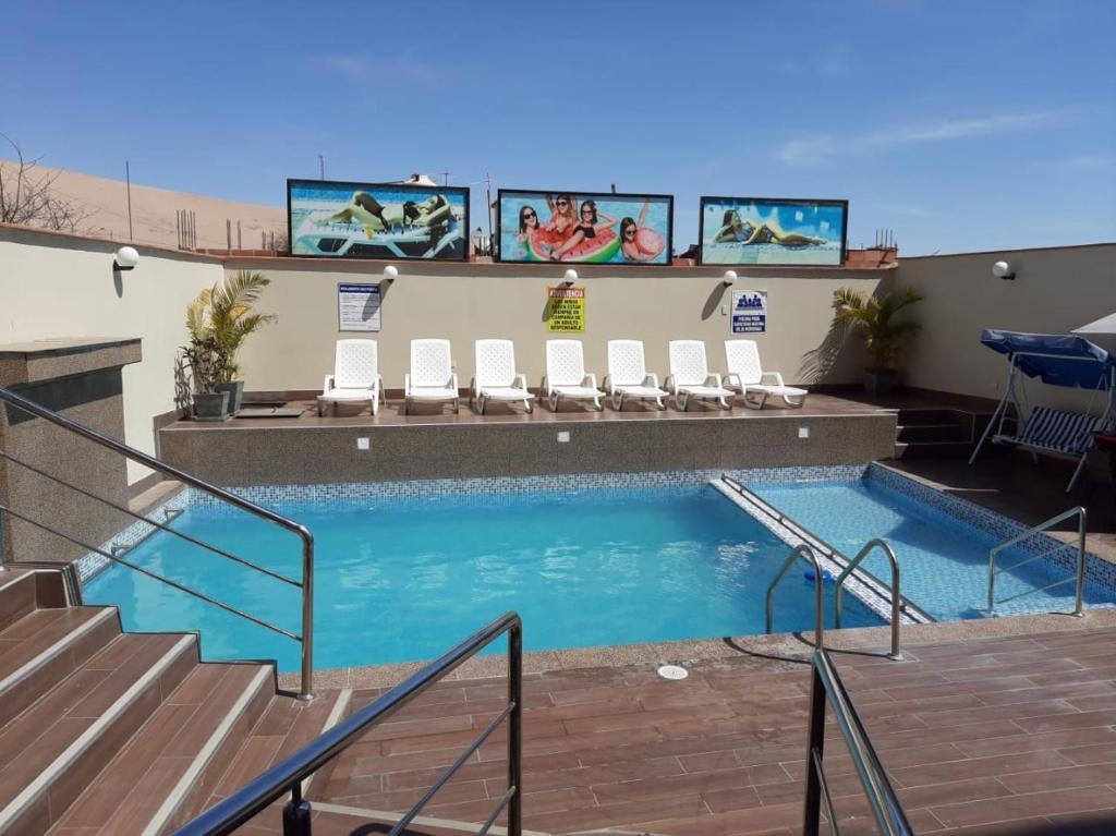 The swimming pool at or close to Hotel Spa Machupicchu