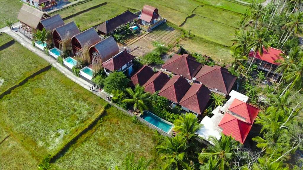 A bird's-eye view of Villa Di Sawah Pejeng