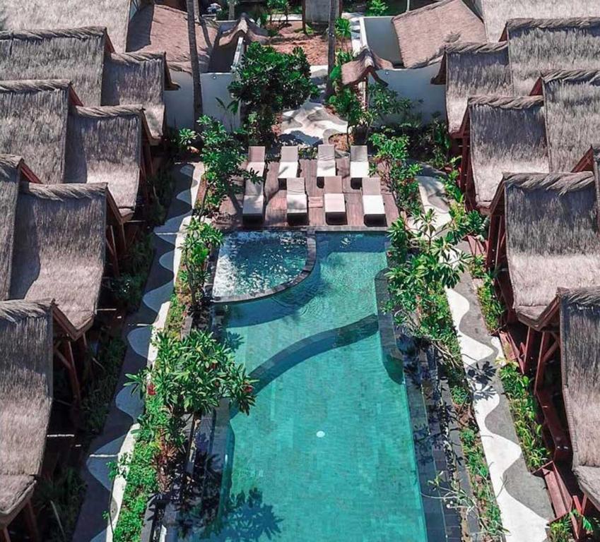 منظر المسبح في Gili One Resort او بالجوار