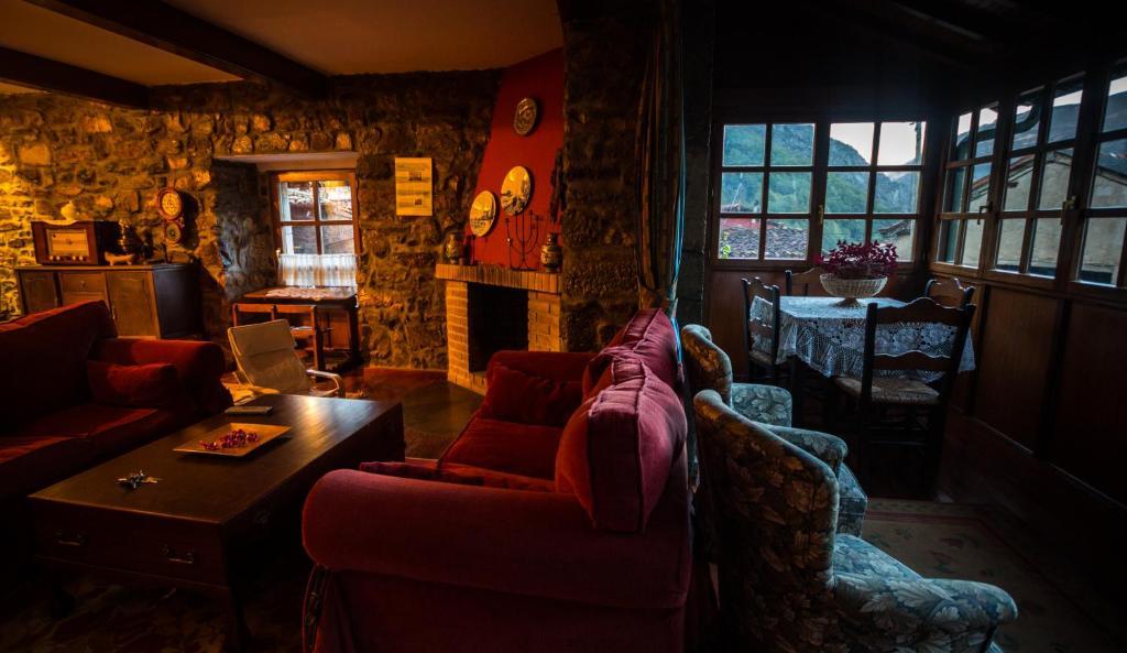 Zona de estar de Hotel Rural La Corte