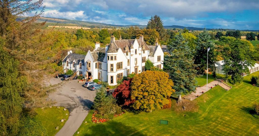 A bird's-eye view of Kincraig Castle Hotel