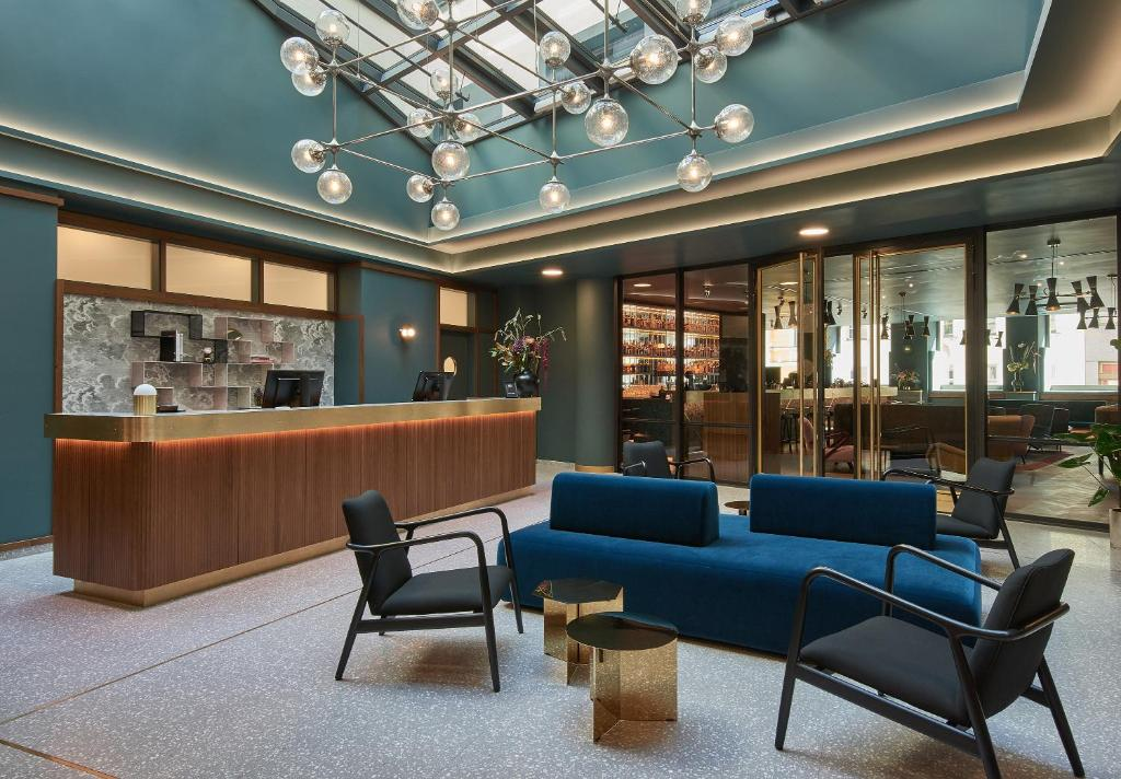 The lobby or reception area at Hotel MIO by AMANO