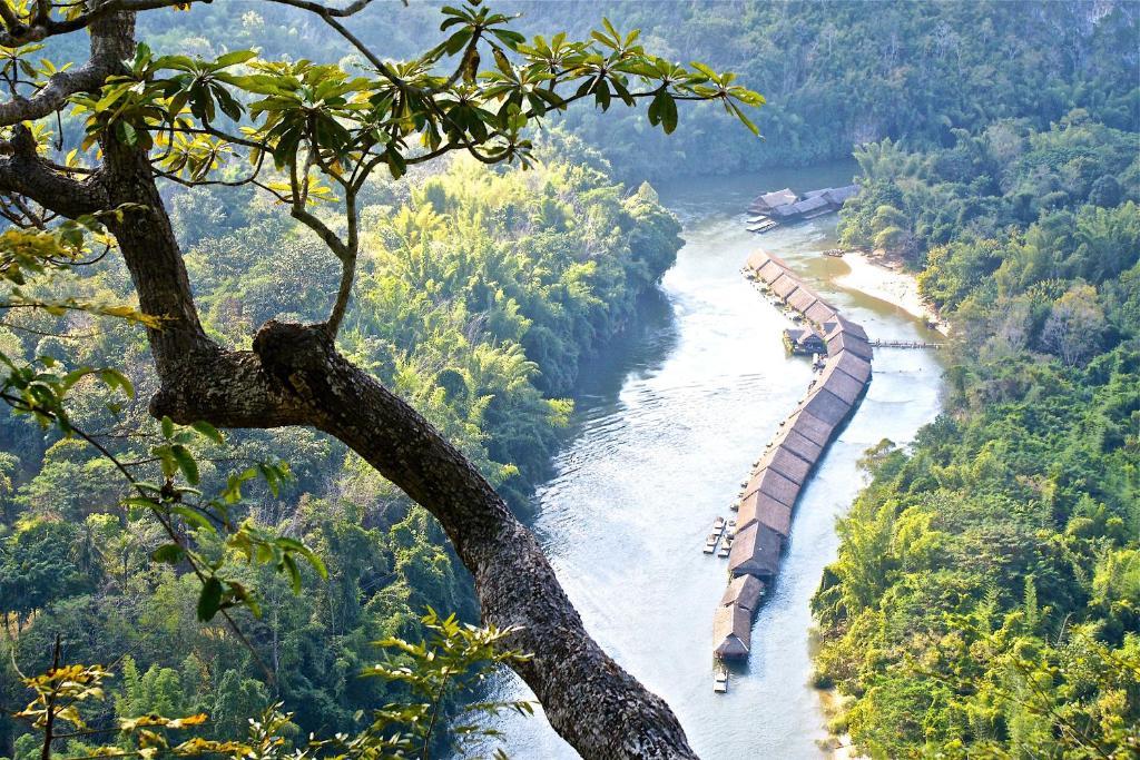 A bird's-eye view of River Kwai Jungle Rafts - SHA Certified