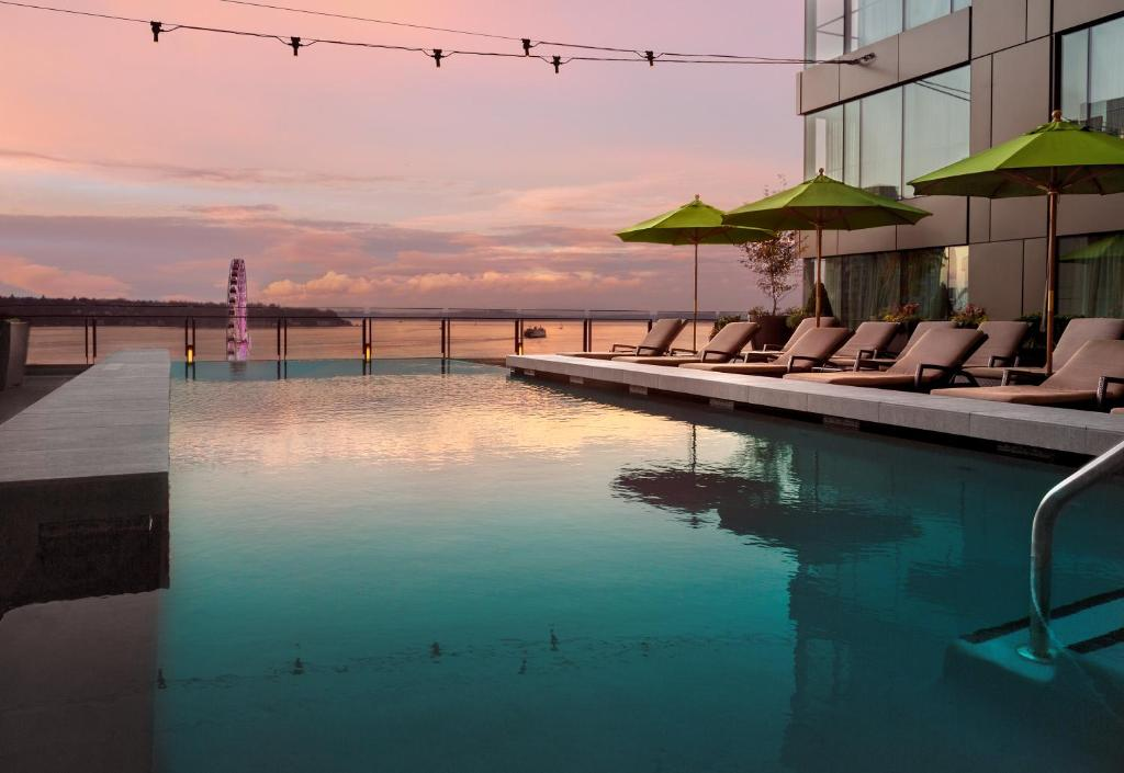 The swimming pool at or near Four Seasons Hotel Seattle