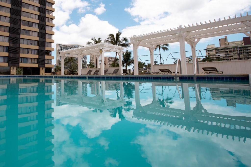 The swimming pool at or near Waikiki Monarch Hotel