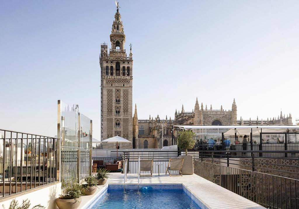The swimming pool at or near EME Catedral Hotel