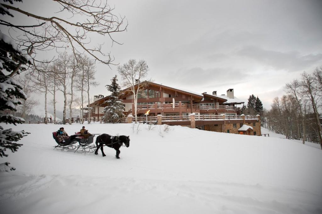 Stein Eriksen Lodge Deer Valley during the winter