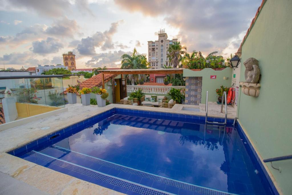 The swimming pool at or near Casa La Fe by BespokeColombia