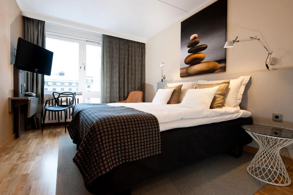 Cama o camas de una habitación en Hotel Birger Jarl