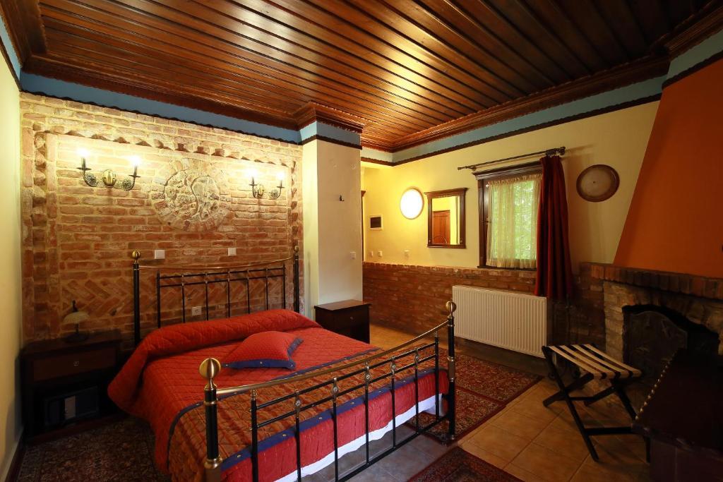 Hotel Nemesis tesisinde bir oturma alanı