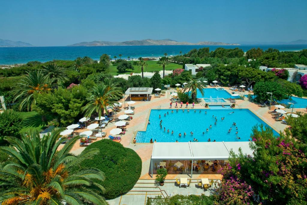 A view of the pool at Caravia Beach Hotel or nearby