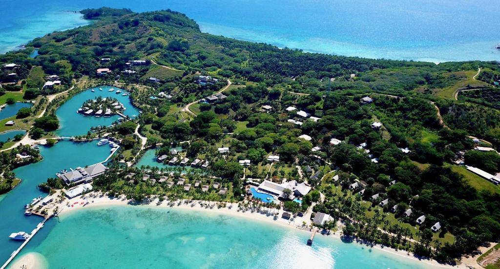 A bird's-eye view of Musket Cove Island Resort