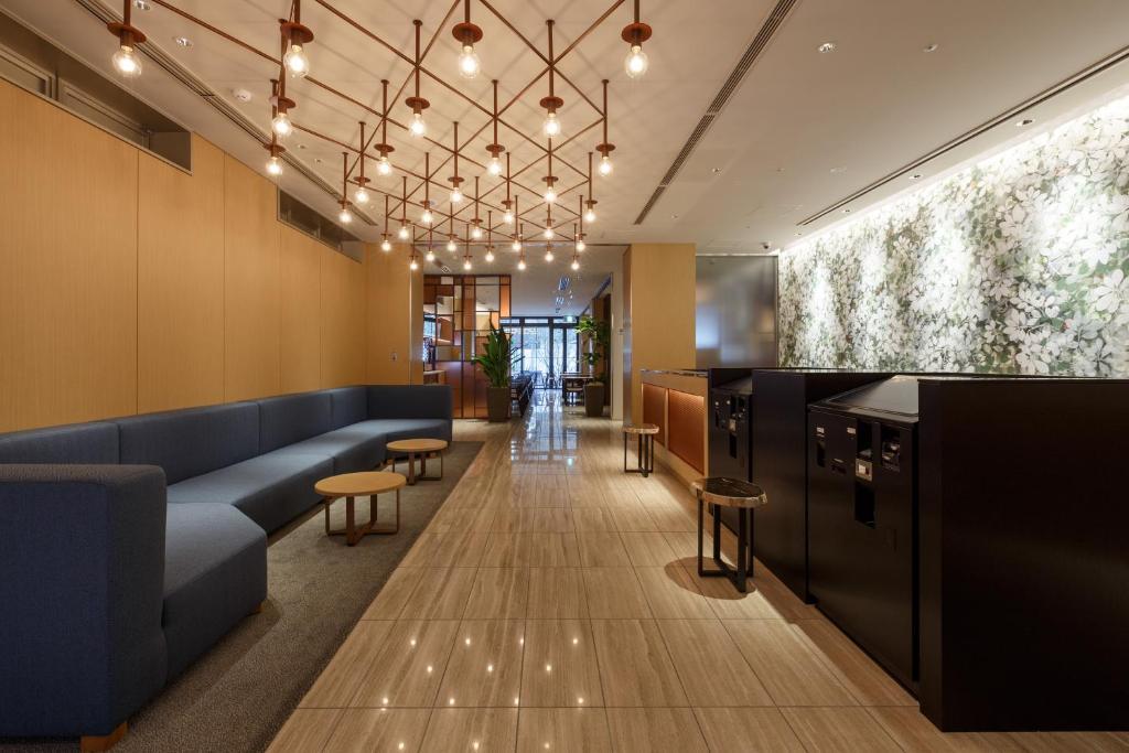 The lobby or reception area at Hotel Forza Osaka Kitahama