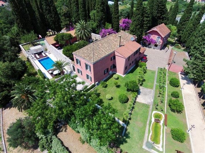 A bird's-eye view of Villa Gorica a luxury villa in Dubrovnik