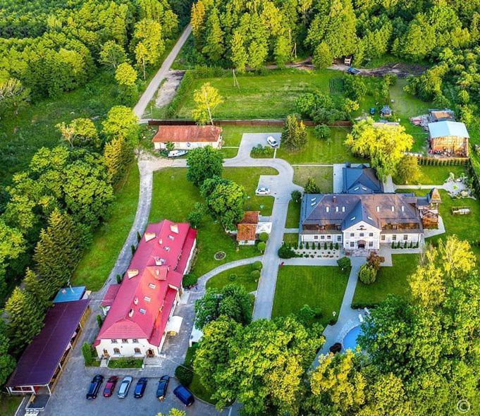 Отель Дом Лесника с высоты птичьего полета
