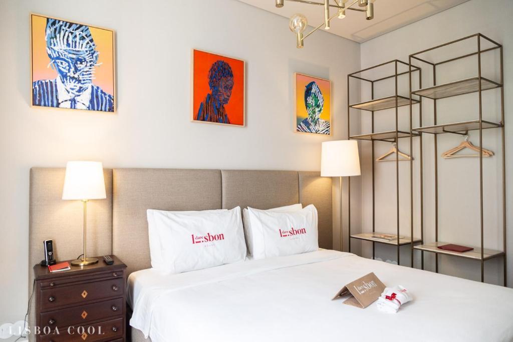 Cama o camas de una habitación en Dare Lisbon House