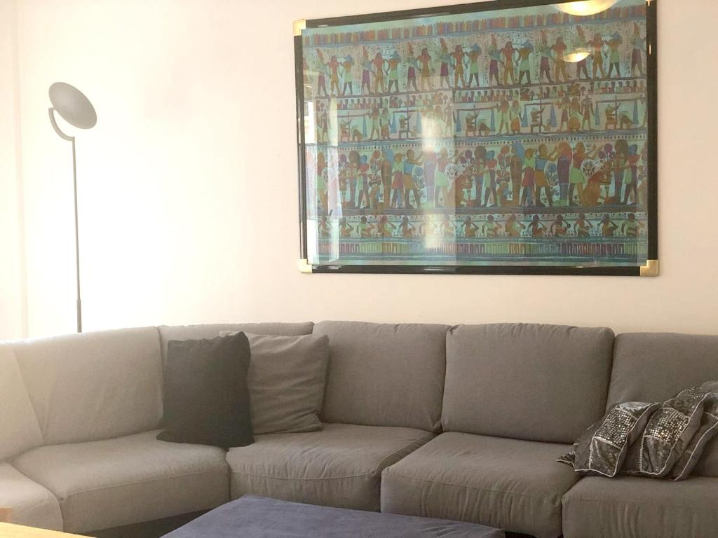 A seating area at Apartment with one bedroom in Terni with wonderful city view