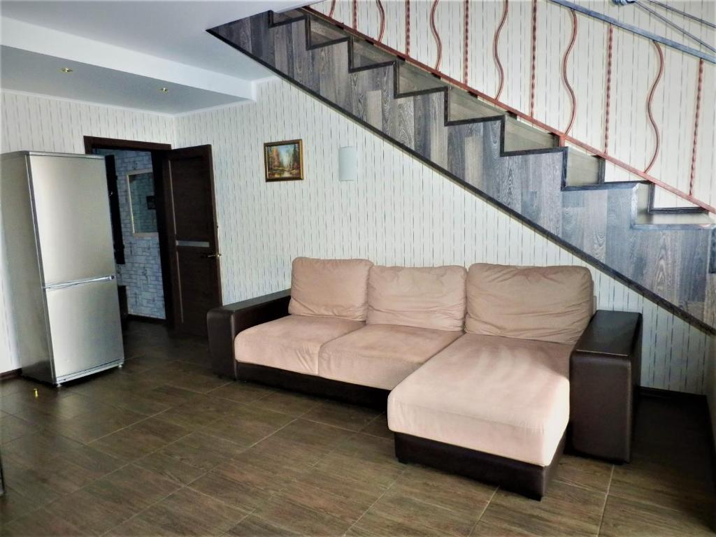 Гостиная зона в Бунгало в Банном