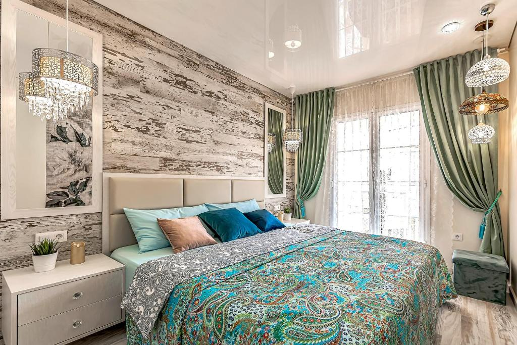 A bed or beds in a room at Luxury apartment Orlando