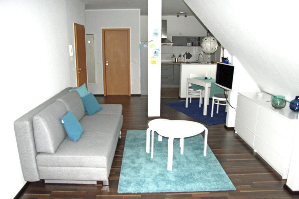 A seating area at Ferienwohnung Brandheide