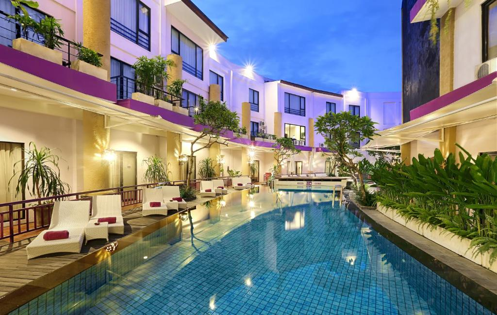 The swimming pool at or near Kuta Central Park Hotel