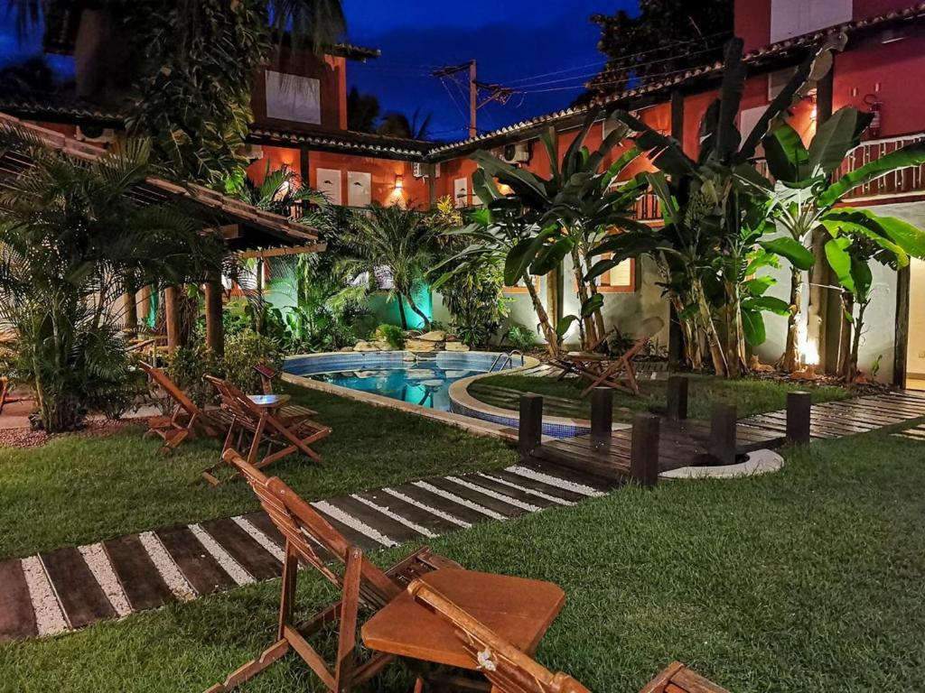 A garden outside Pousada Tatuapara