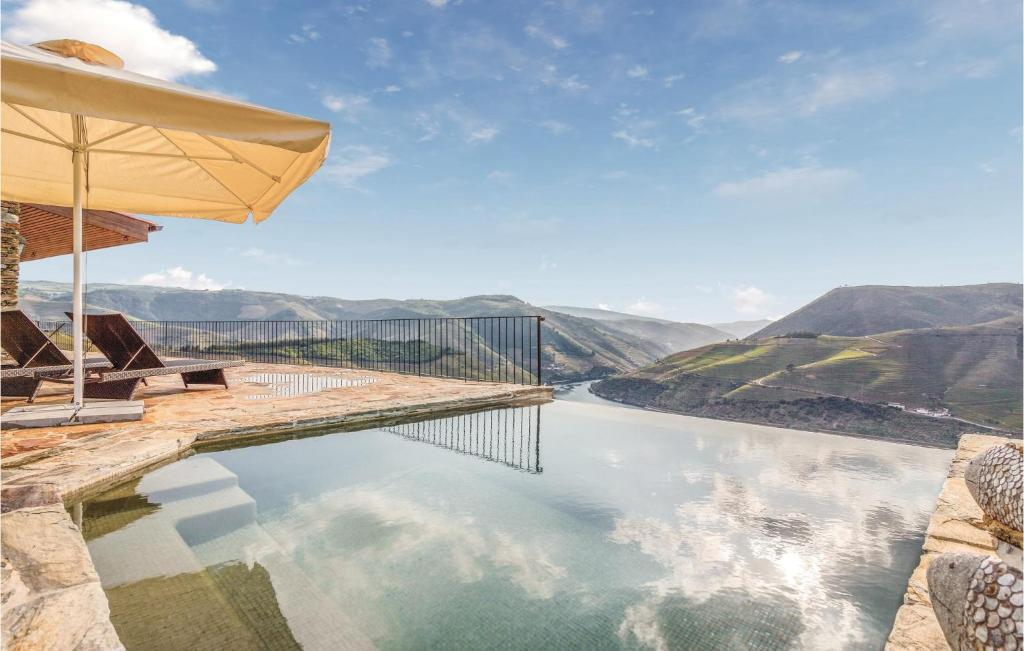 The swimming pool at or near Amazing home in Folgosa do Douro w/ WiFi and 3 Bedrooms