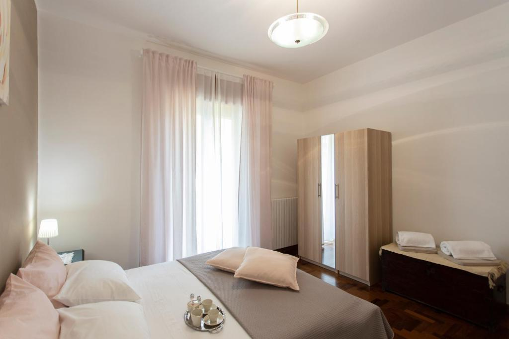 A bed or beds in a room at Casa vacanza Forte La Carnale