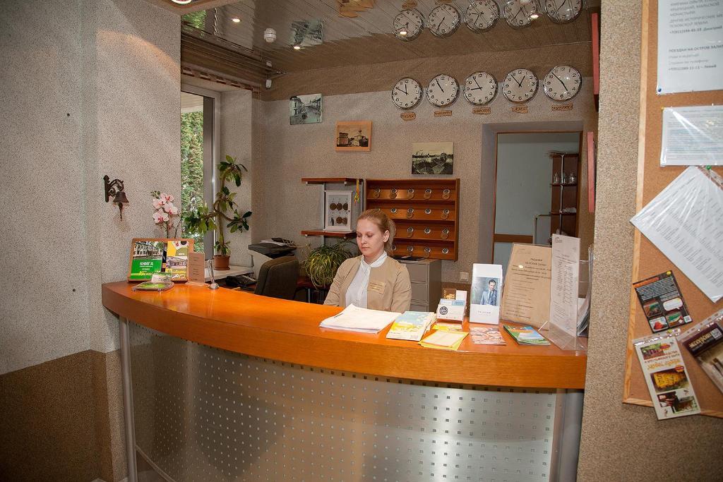 Лобби или стойка регистрации в Гостиница Колос