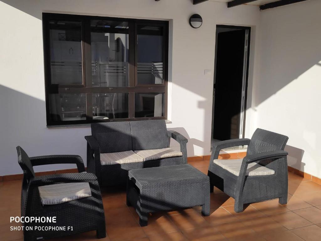 A seating area at Casa Mi Lanzarote