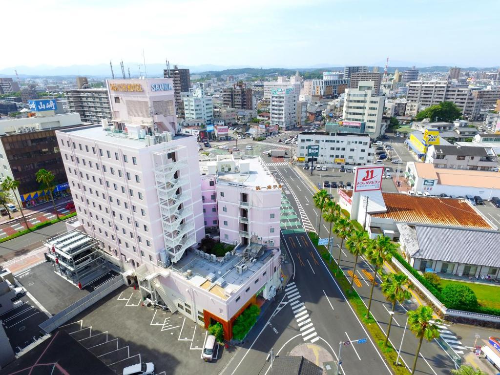 A bird's-eye view of Miyazaki Daiichi Hotel