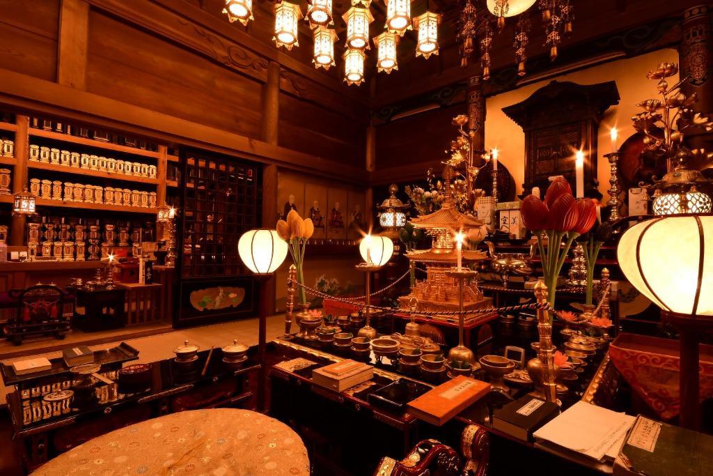 The lounge or bar area at Koyasan Shukubo Fudoin