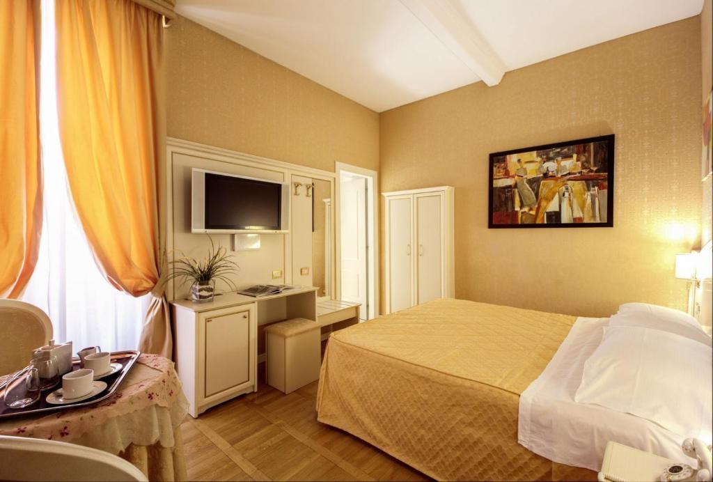 A room at the Relais Fontana Di Trevi Hotel.