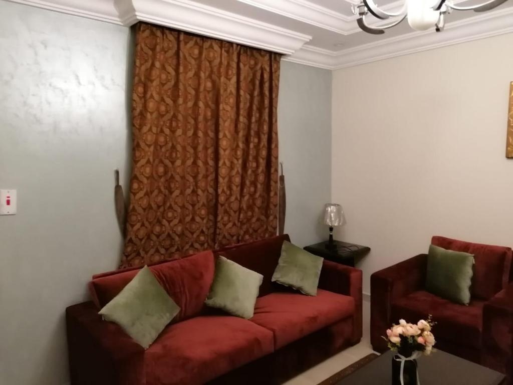 Uma área de estar em قصر المساعدية للوحدات السكنية فرع قريش