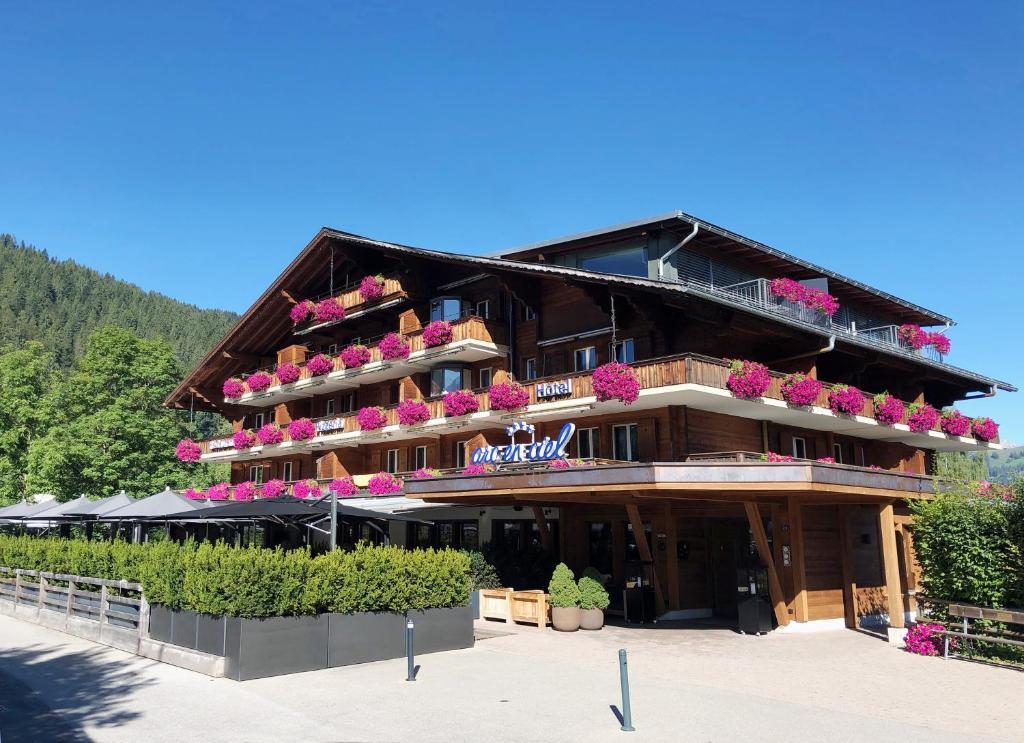 Hotel Arc-en-ciel Gstaad during the winter