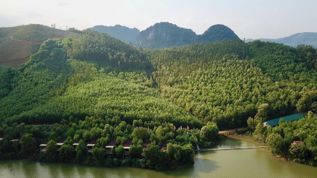 A bird's-eye view of Nguyen Shack - Phong Nha Eco Resort
