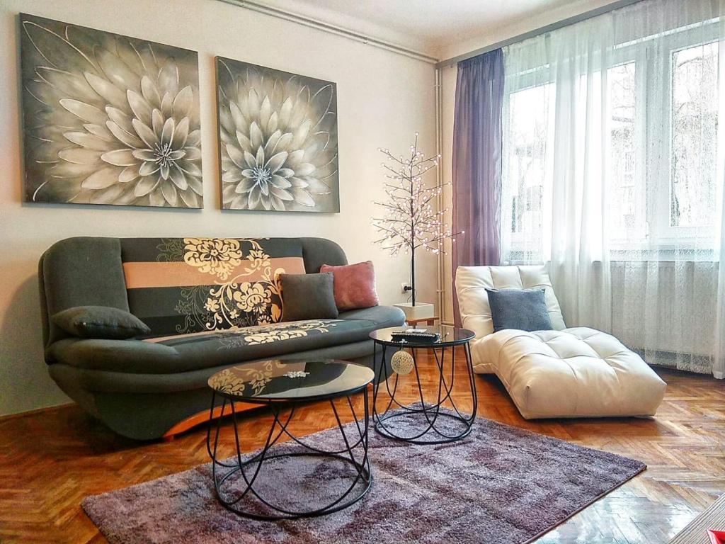 Posezení v ubytování Apartment Angel Zagreb 2