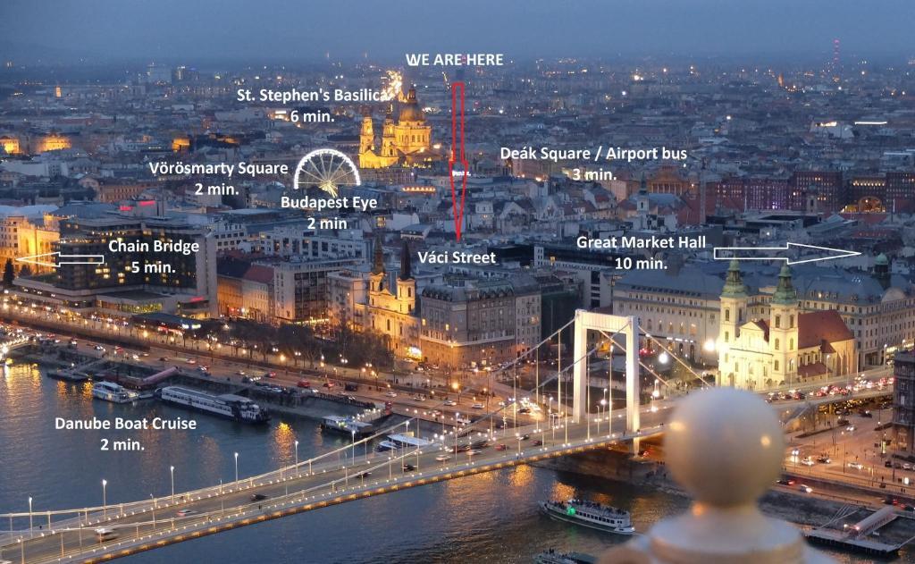 Letecký snímek ubytování Apartman - Heart of Budapest